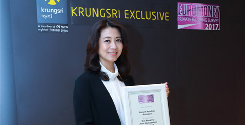 "Krungsri wins ""Best Bank for Asset Management in Thailand 2017"" from Euromoney"