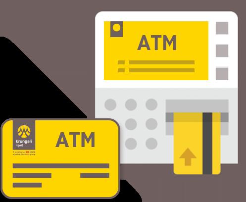 by using your Krungsri ATM/VISA Electron/VISA debit card.