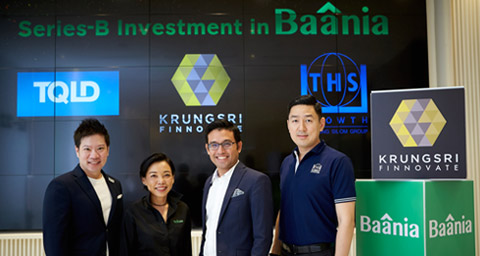 Baania raises over 100-million baht in series-B investment from lead investor Krungsri Finnovate, plus TQLD, and THS Growth
